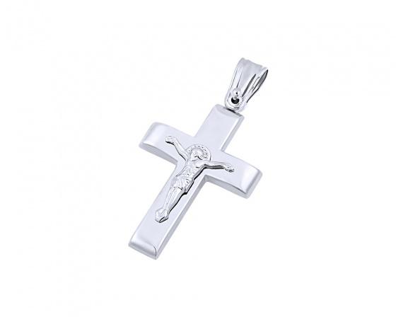 """Εικόνα του """"Λευκόχρυσος ανδρικός σταυρός Κ9, T04319"""""""
