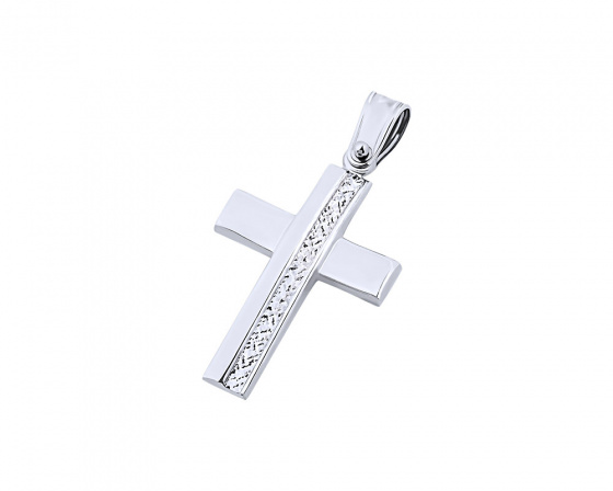 "Image of ""White gold women's cross Κ9, T04819"""