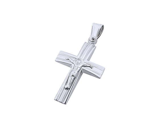 "Image of ""White gold men's cross Κ9, T04919"""