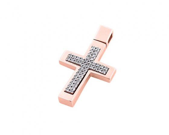 "Image of ""Rose gold women's cross Κ14, T00218"""