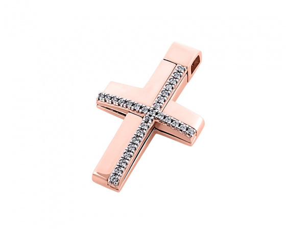 "Image of ""Rose gold women's cross Κ14, T00318"""