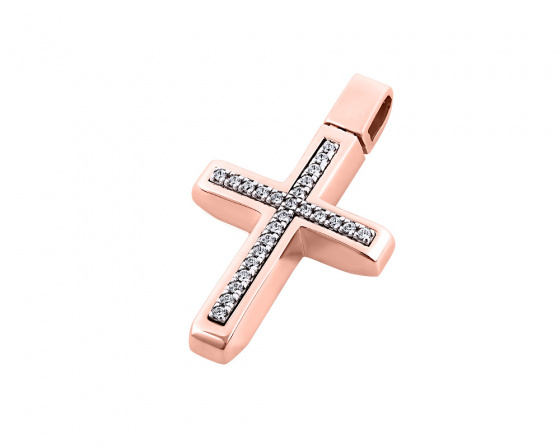 "Image of ""Rose gold women's cross Κ14, T00418"""