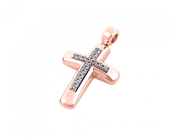 "Image of ""Rose gold women's cross Κ14, T00518"""