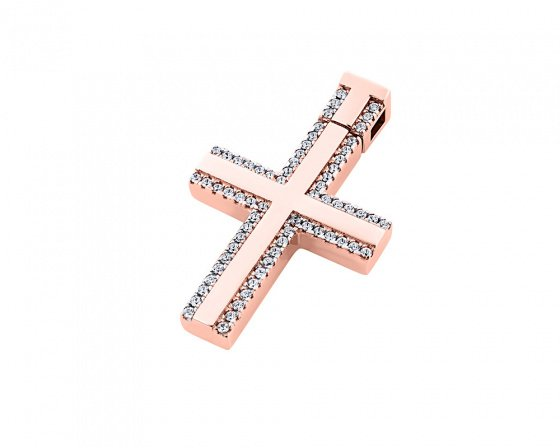 "Image of ""Rose gold women's cross Κ14, T00618"""