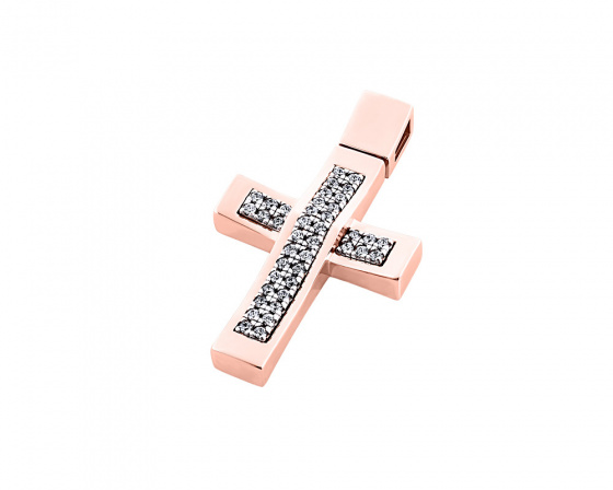 "Image of ""Rose gold women's cross Κ14, T00718"""