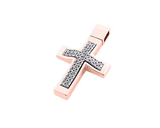 "Image of ""Rose gold women's cross Κ14, T00918"""