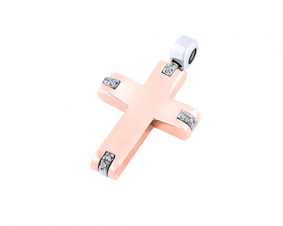 "Image of ""Rose gold women's cross Κ14, Τ01018"""