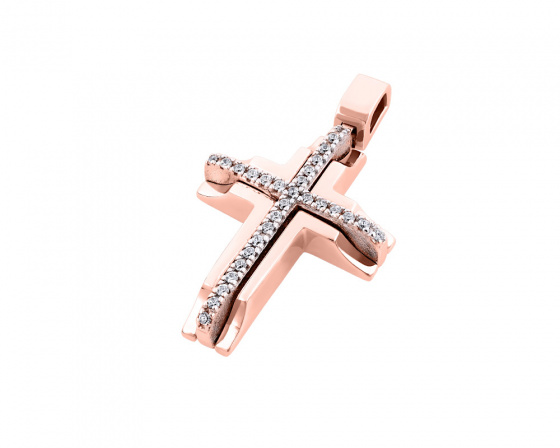 "Image of ""Rose gold women's cross Κ14, T01218"""