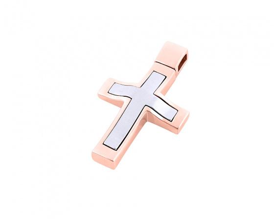"""Εικόνα του """"Ροζ χρυσός ανδρικός σταυρός Κ14, Τ01418"""""""