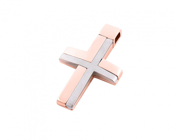 "Image of ""Rose gold men's cross Κ14, Τ01518"""