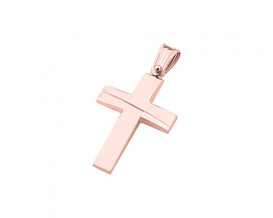"""Εικόνα του """"Ροζ χρυσός ανδρικός σταυρός Κ14, T01519"""""""