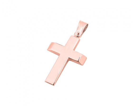"""Εικόνα του """"Ροζ χρυσός ανδρικός σταυρός Κ9, T00719"""""""