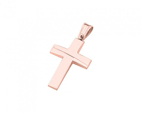 "Image of ""Rose gold men's cross Κ9, Τ01519"""