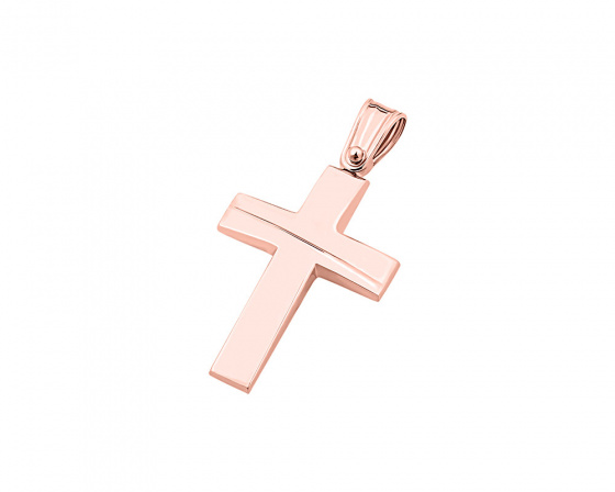 "Image of ""Rose gold men's cross Κ9, T01519"""
