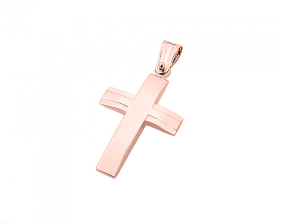 "Image of ""Rose gold men's cross Κ9, T02219"""