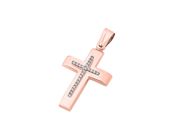 "Image of ""Rose gold women's cross Κ9, T04019 """