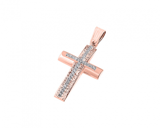 "Image of ""Rose gold women's cross Κ9, T04119"""