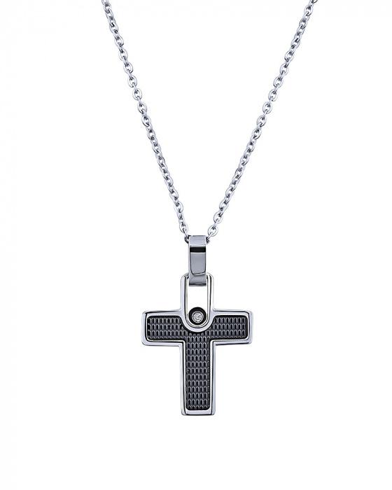 "Image of ""Men's stainless steel cross, P134"""
