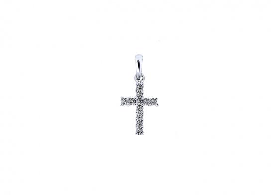 """Εικόνα του """"Λευκόχρυσος γυναικείος σταυρός Κ9 """"Luminus Cross"""""""""""