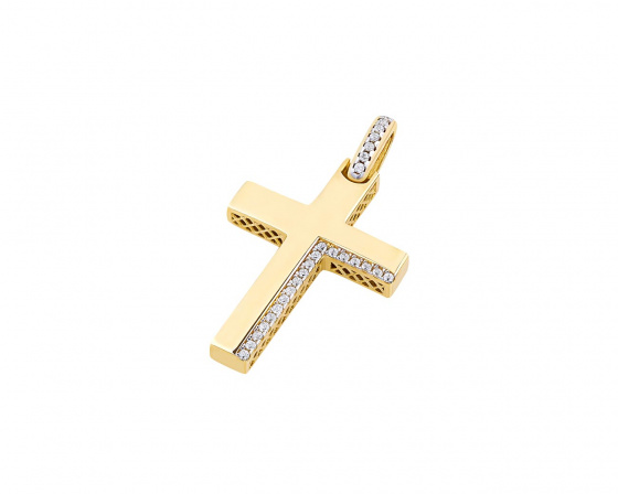 "Image of ""Gold women's cross Κ14, T00319"""