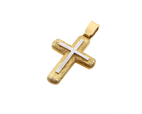 "Image of ""Gold men's cross Κ14, T00419"""