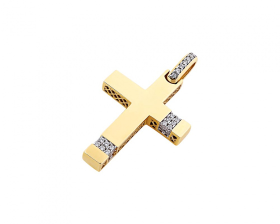 "Image of ""Gold women's cross Κ14, T00819"""