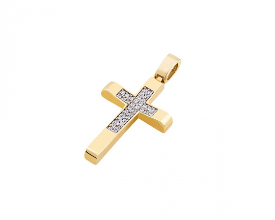 "Image of ""Gold women's cross Κ14, T00919"""