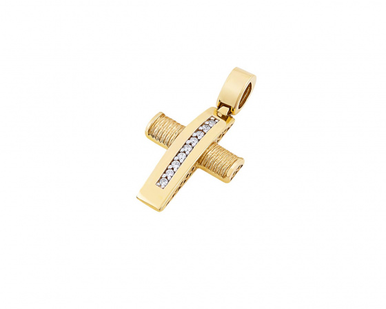 "Image of ""Gold women's cross Κ14, T01419"""