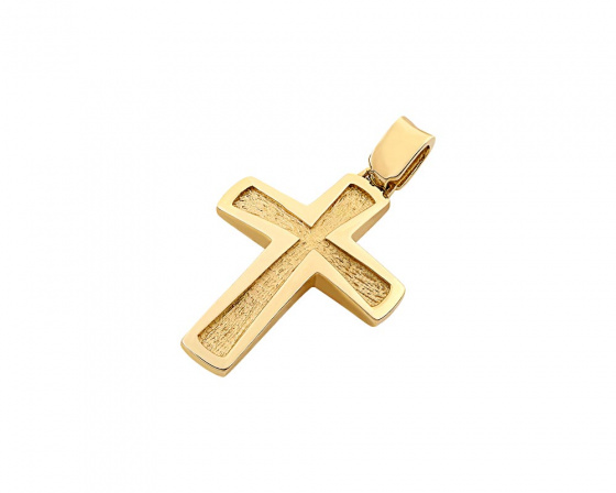 "Image of ""Gold men's cross Κ14, T02519"""