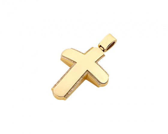 "Image of ""Gold men's cross Κ14, T02719"""
