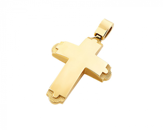 "Image of ""Gold men's cross Κ14, T03019"""