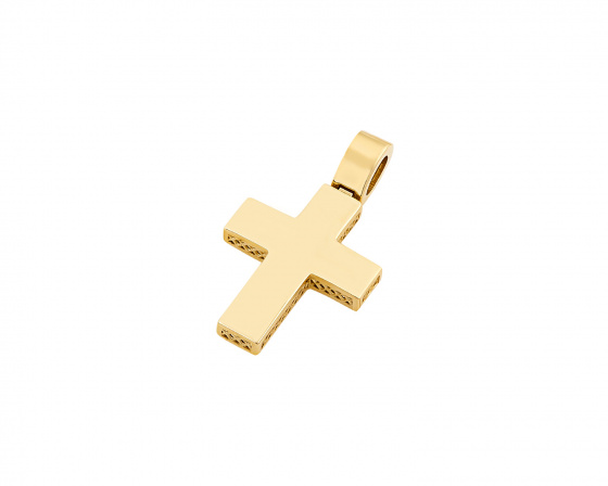 "Image of ""Gold men's cross Κ14, T03319"""
