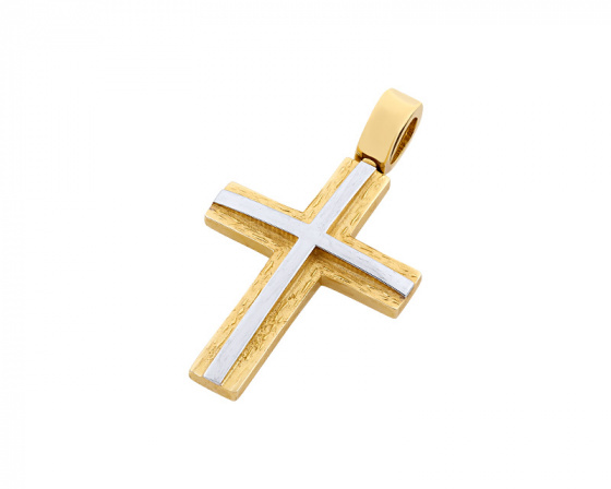"Image of ""Gold men's cross Κ14, T04219"""
