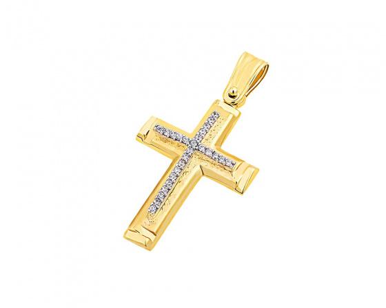 """Εικόνα του """"Χρυσός γυναικείος σταυρός Κ14, T03919"""""""