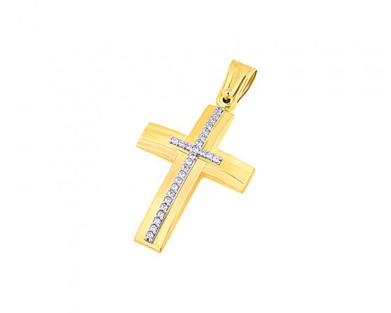 """Εικόνα του """"Χρυσός γυναικείος σταυρός Κ14, T04419"""""""