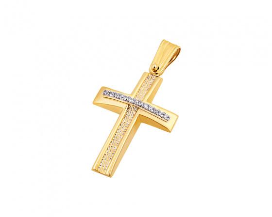 """Εικόνα του """"Χρυσός γυναικείος σταυρός Κ14, T04219"""""""
