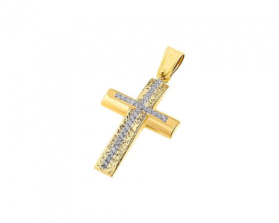 """Εικόνα του """"Χρυσός γυναικείος σταυρός Κ14, T04119"""""""