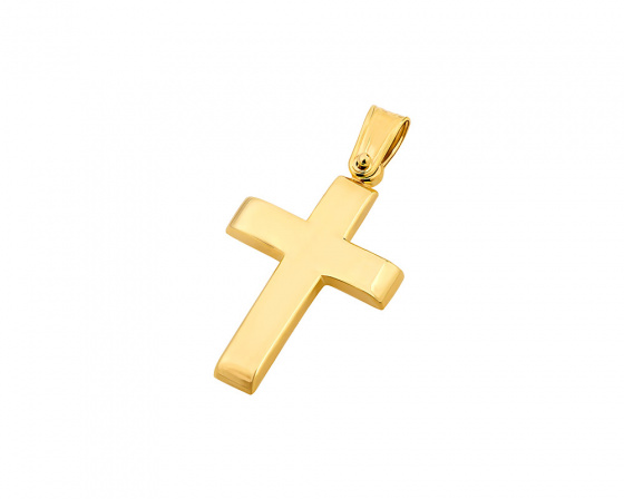 "Image of ""Gold men's cross Κ9, T00819"""