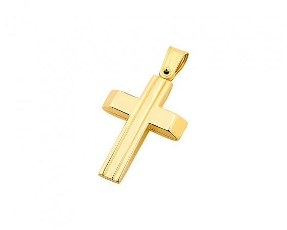 """Εικόνα του """"Χρυσός ανδρικός σταυρός Κ9, T01219"""""""
