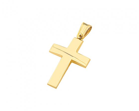 "Image of ""Gold men's cross Κ9, T01519"""