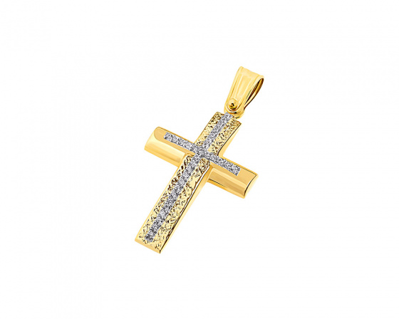"Image of ""Gold women's cross Κ9, T04119"""