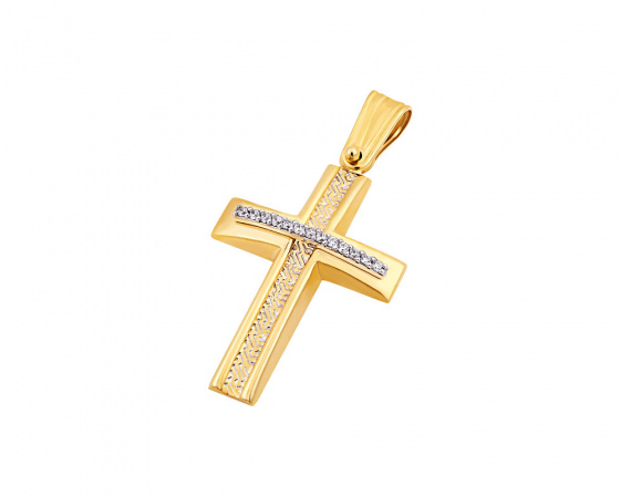 "Image of ""Gold women's cross Κ9, T04219"""