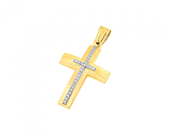 "Image of ""Gold women's cross Κ9, T04419"""