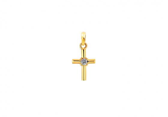 """Εικόνα του """"Χρυσός γυναικείος σταυρός Κ9 """"Crosslight"""""""""""