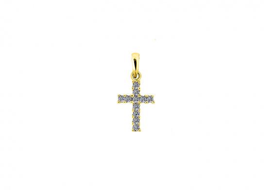 """Εικόνα του """"Χρυσός γυναικείος σταυρός Κ9 """"Luminus Cross"""""""""""