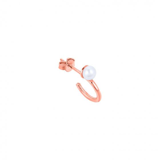"Image of """"Single Story"" rose gold K14 hoop earring"""