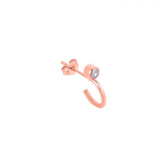 "Image of """"Single Shine"" rose gold K14 hoop earring"""