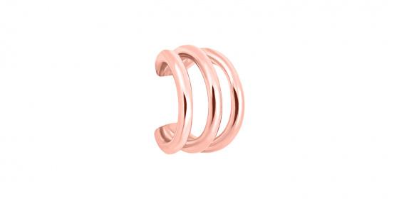 """Εικόνα του """"Ασημένιο σκουλαρίκι ear cuff """"Jolly"""" ροζ επίχρυσο"""""""