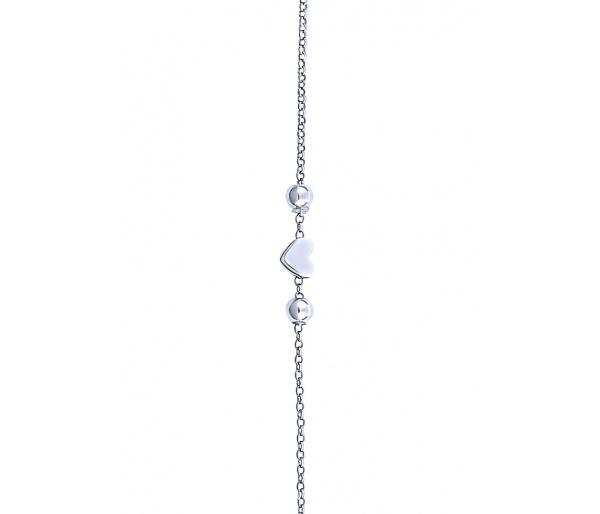 """""""Festive Heart"""" silver bracelet"""