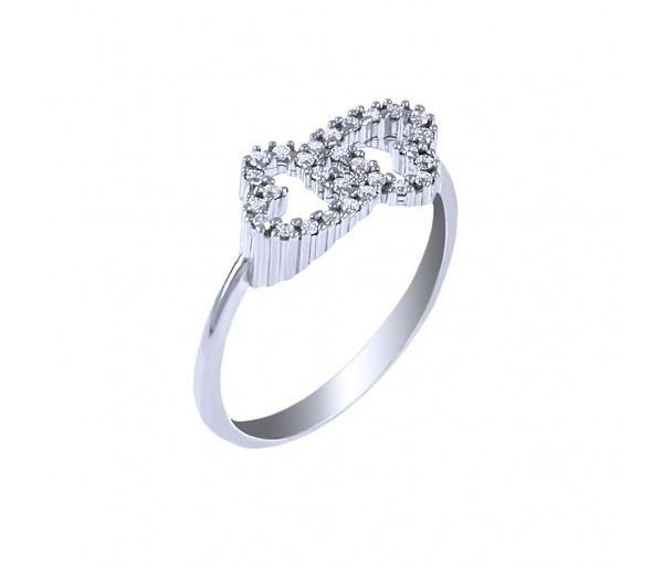 """""""Twin Hearts"""" ring"""